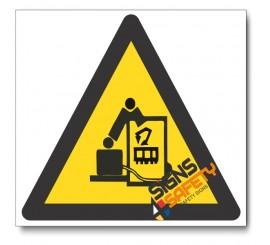 Beware Of Robot Hazard Sign