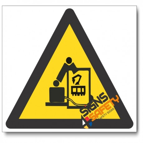 Beware Of Robot Hazard Sign