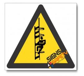 Catwalk Hazard Sign