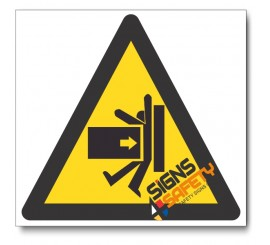 Crush Hazard Sign