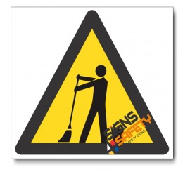 Cleaning In Progress Hazard Sign