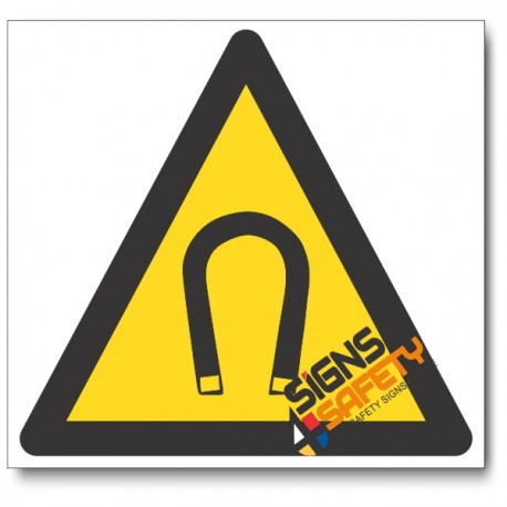 Strong Magnetic Field Hazard Sign