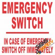 (E20) Emergency Switch Electrical Sign