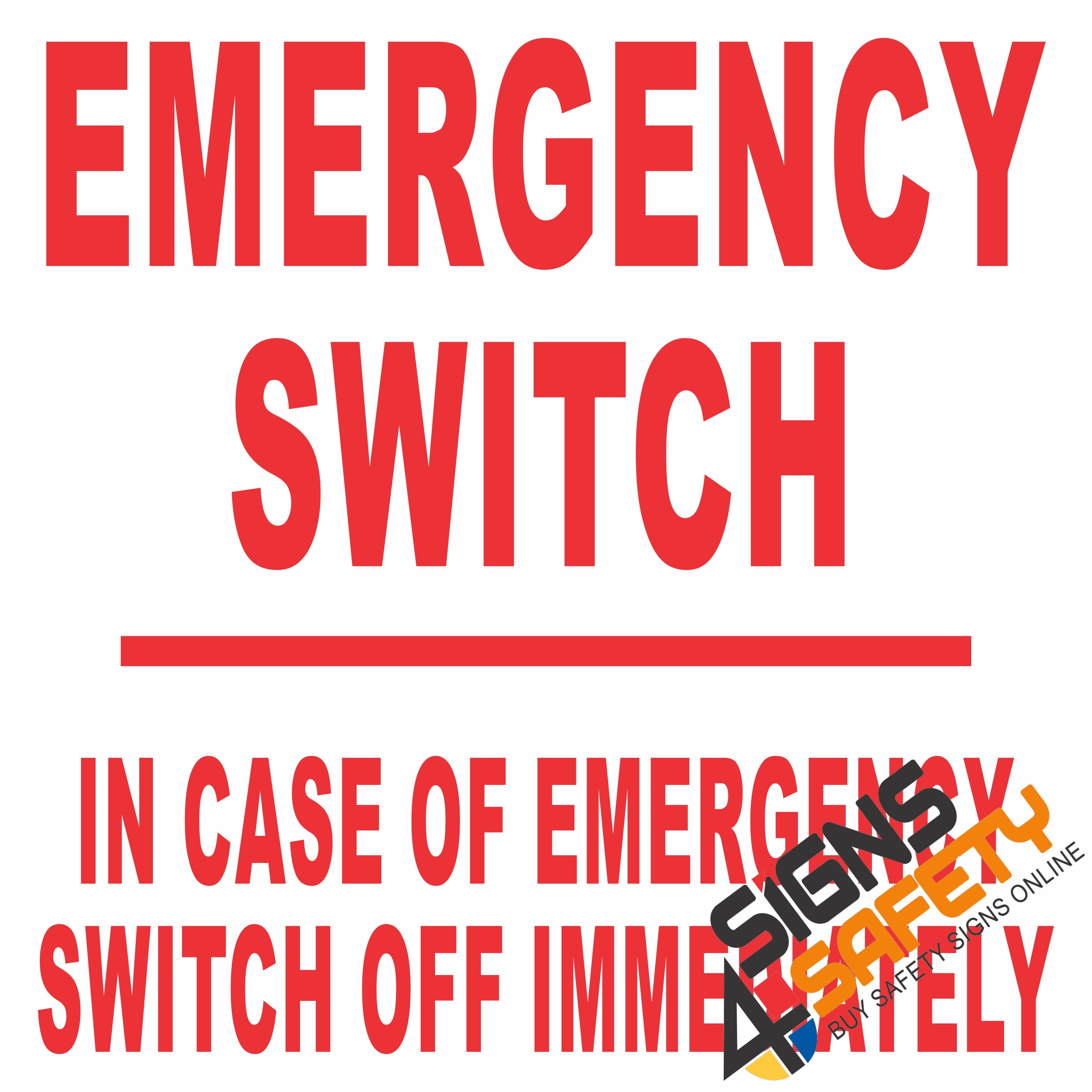 Nosa sabs electrical safety signs south africa signs4safety e20 emergency switch electrical sign buycottarizona Gallery