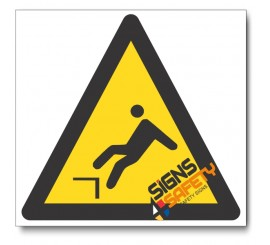 Mind The Ledge Hazard Sign