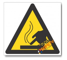 Hot Surface Hazard Sign