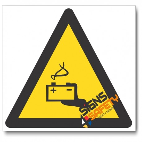 Battery Hazard Sign
