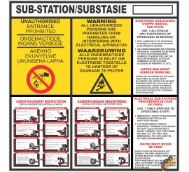 (ES1) Electrical Sub-Station / Substasie Sign