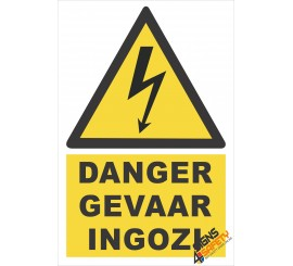 (EW1) Danger / Gevaar / Ingozi Electrical Sign