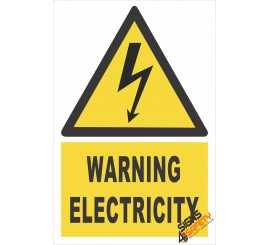 (EW2) Warning Electrical Sign