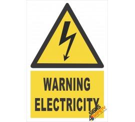 (EW2) Warning Electrical Sign