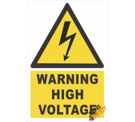 (EW3) Warning High Voltage Sign