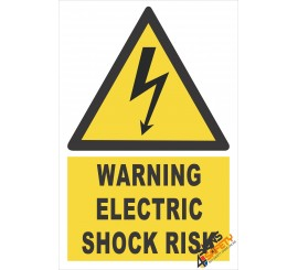 (EW4) Warning Electric Shock Risk Sign