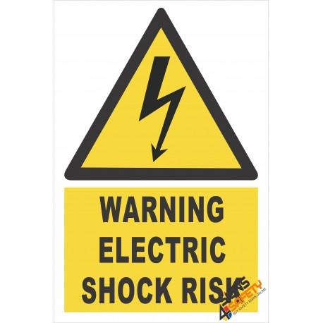 (EW4) Warning Electric Shock Risk Sign