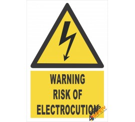 (EW5) Warning Risk Of Electrocution Sign