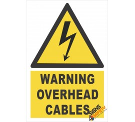 (EW7) Warning Overhead Electrical Cables Sign