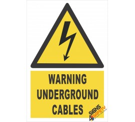 (EW8) Warning Underground Electrical Cables Sign