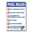 Pool Rules Safety Sign