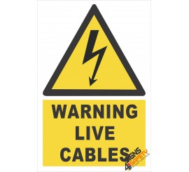 (EW9) Warning Live Electrical Cables Sign