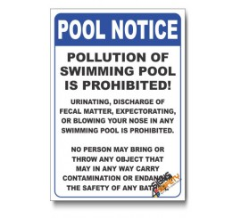 Pool Notice Sign
