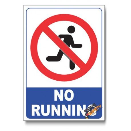 No Running In Swimming Pool Area Sign