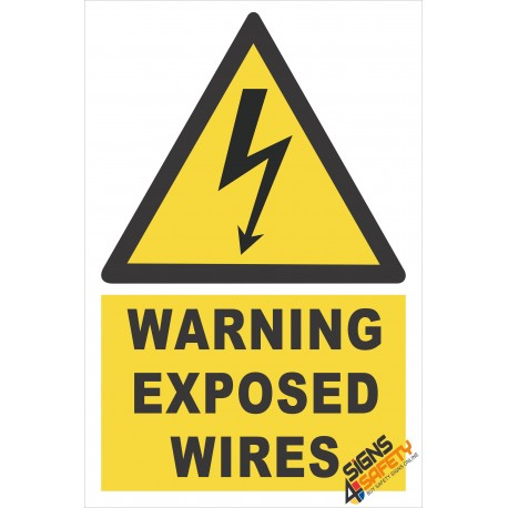 (EW10) Warning Exposed Wires Sign