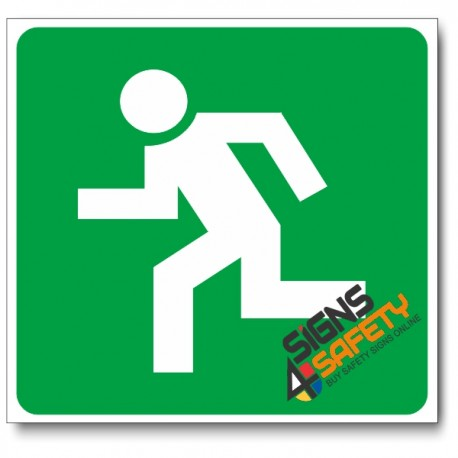 (GA3) Escape Route Left Sign