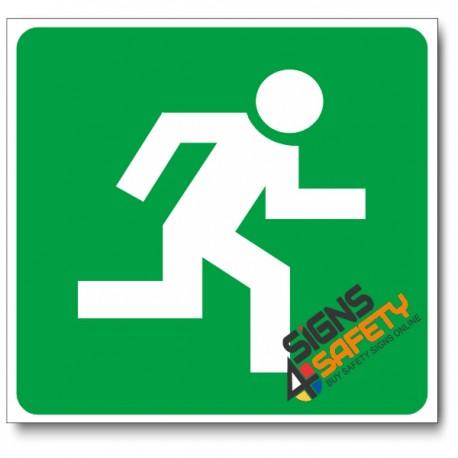 (GA4) Escape Route Right Sign