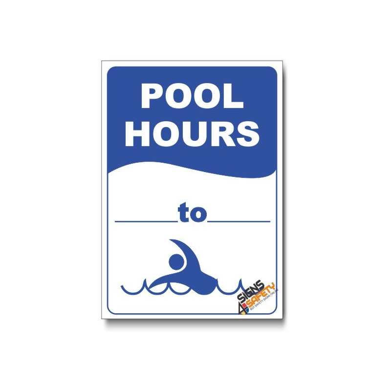Pool Hours Sign Signs4safety