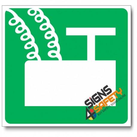 (GA7) Blasting Point Sign