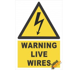 (EW11) Warning Live Wires Sign