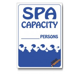 Spa Capacity Sign
