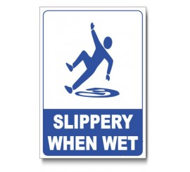 Slippery When Wet Pool Area Sign