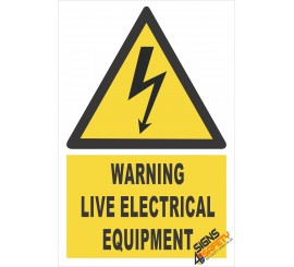 (EW12) Warning Live Electrical Equipment Sign
