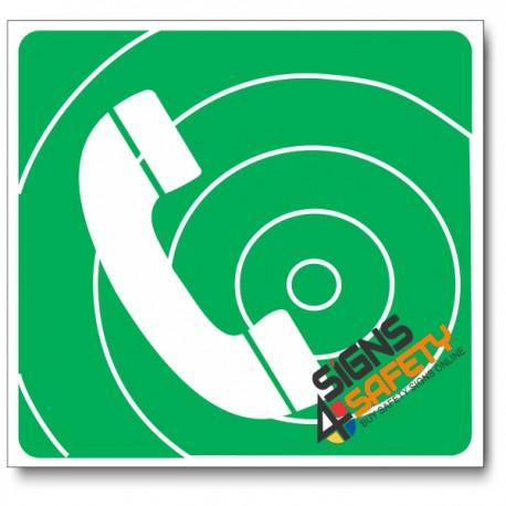 (GA15) Emergency Telephone Sign