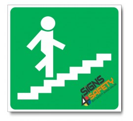(GA18) Stairs Going Up Sign