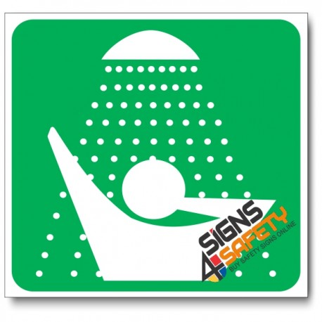 (GA20) Safety Shower Sign