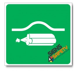 (GA21) Location Of Bomb Bag Sign