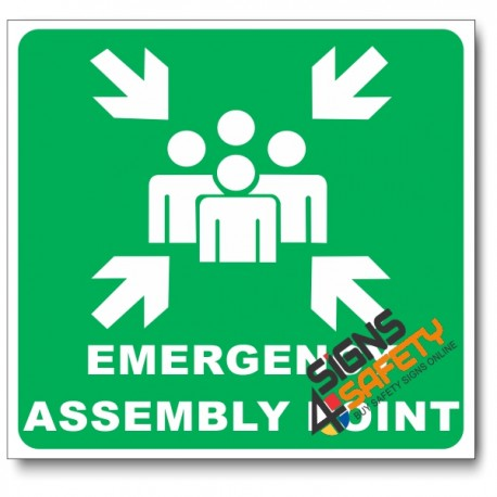 (GA26) Emergency Assembly Point Sign