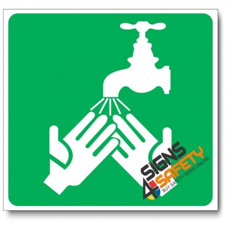 (GA27) Hand Wash Tap Sign