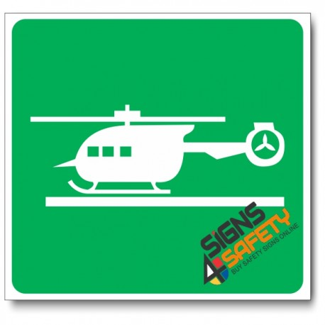 (GA28) Helicopter Pad Sign