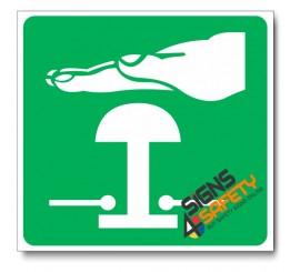 (GA29) Emergency Stop Sign