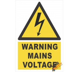 (EW15) Warning Mains Voltage Sign