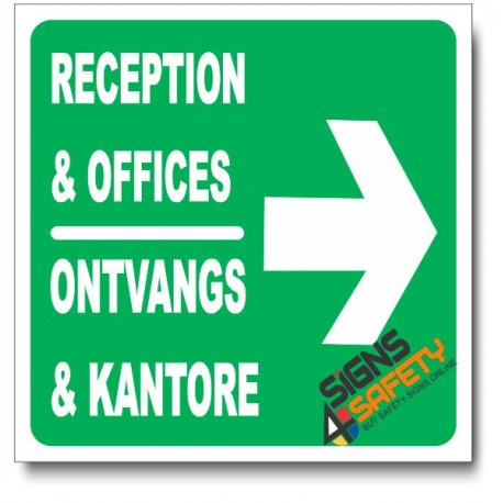 (IN20) Reception & Offices Right Sign