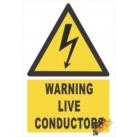 (EW17) Warning Live Conductors Sign