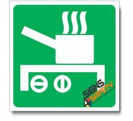 (IN33) Designated Cooking Area Sign