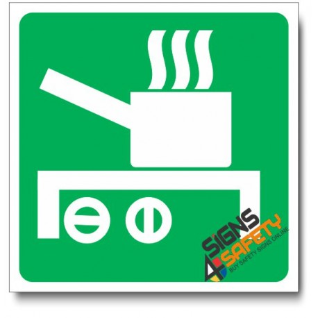 (IN33) Designated Cooking Area Sign