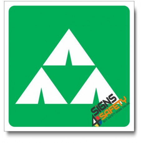 (IN36) Camping Area Sign