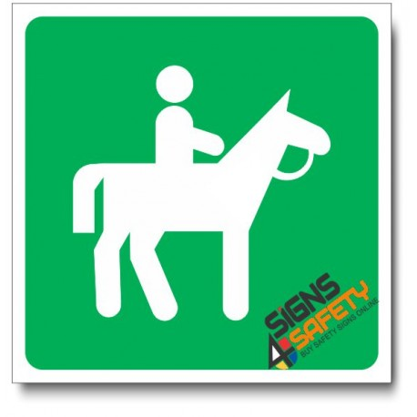 (IN44) Horse Riding Sign