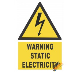 (EW19) Warning Static Electricity Sign